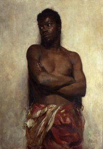 Gemälde von Robert Sterl, Akademiemodell, um 1886-87