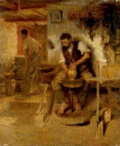 Robert Sterl: Töpfer an der Drehscheibe