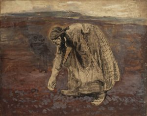 Robert Sterl: Kartoffellegerin, 1904