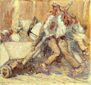 Gemälde von Robert Sterl, Steinauflader am Kippwagen, 1913