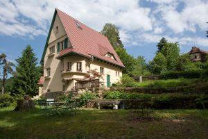 Foto vom Robert-Sterl-Haus, Gartenseite