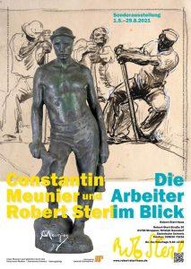 Plakat zur Ausstellung: Constantin Meunier und Robert Sterl - Die Arbeiter im Blick