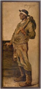 Constantin Meunier_Bergmann mit Grubenbeil_Gemälde
